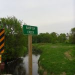 Badfish Creek waterway sign